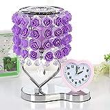 Lampe de table parfum rose lumière nuit violet 35