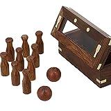 Shopaholic Handmade Indian Mini Bowling Set - Travel Games - Table Games for Kids