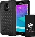 PowerBear® kompatibel für Compatible For Samsung Galaxy Note Edge Erweiterte Akku [6000mAh] & Rückseitenschutz & Schutzgehäuse (Bis zu 2,5x Zusätzliche Batterieleistung) – Schwarz [24 Monate Garantie & Bildschirmschutz Inbegriffen]