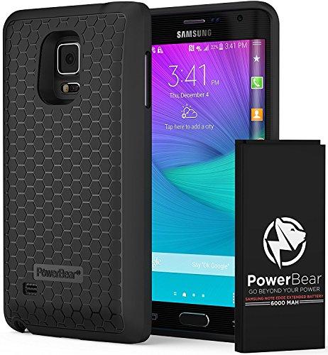 Galleria fotografica PowerBear Batterie Étendue Samsung Galaxy Note Edge [6000mAh], Couvercle Arrière et Boîtier de Protection (2.5X de Puissance de Batterie Supplémentaire) [24 Mois Garantie et Protecteur d'Écran]