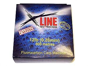X Line Fluorocarbon Carp Fishing Line 250m Spool (15lb) by X Line