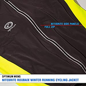 OPTIMUM Nitebrite Winter Roubaix - Chaqueta de ciclismo para hombre negro negro Talla:mediano