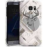 Samsung Galaxy S7 Edge Housse étui coque protection Cerf Bois Forêt