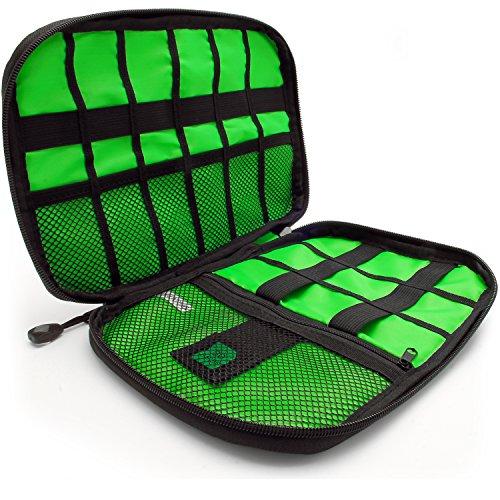 Preisvergleich Produktbild CampTeck U6748 Reise Kabel Organizer Tasche Elektronik Zubehör Tasche Aufbewahrungshülle für Ladekabel,  Speicherkarten,  Powerbanks,  Eexterne Festplatten,  USB Sticks,  Stecker,  usw. - Schwarz