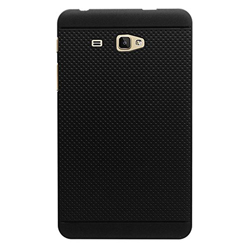 KANICT Dotted Matte Finished Soft Skin Rubbersied Back Case Cover for Samsung Galaxy J Max/Tab A6 7.0 T285 T280 Tablet (Black)