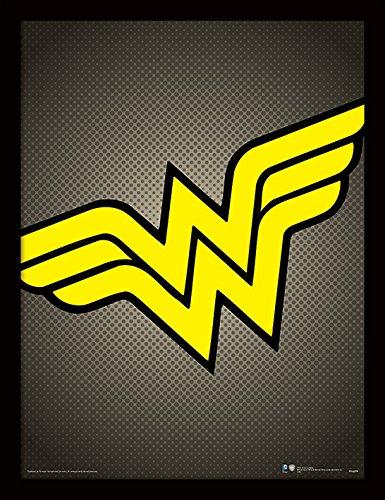 l DC Comics (Wonder Woman Symbol) 30x40 cm gerahmter Druck, 250GSM PAPERWRAP MDF, Mehrfarbig 44 x 33 x 4 cm ()