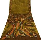 Vintage Indian Ethnic Reine Seide Grün Saree mit