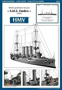 HMV 3051 Papermodel Light Cruiser SMS Emden