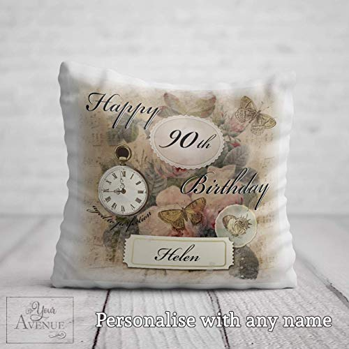 90th Birthday Cushion for her 90...