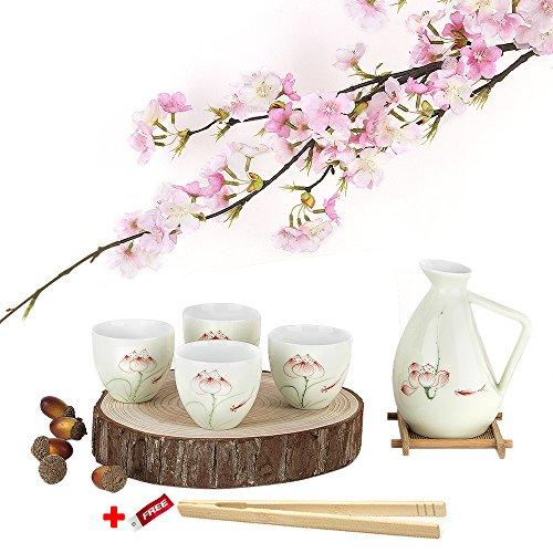 5-pieces-motif-lotus-porcelaine-peinte-a-la-main-ensemble-de-coupe-a-sake-japonais-en-porcelaine-pot