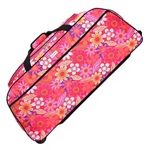 Karabar Budva XL equipaje con ruedas, Flores rosadas