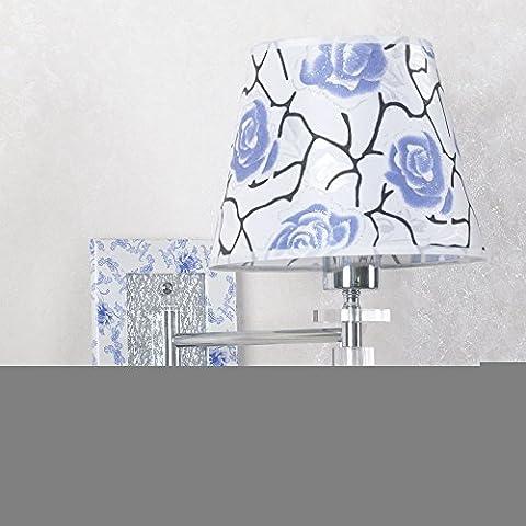 LIVY chinois Art Moderne Lampe Swing Arm Offre Spéciale Bleu et Blanc Porcelaine Wall Applique murale