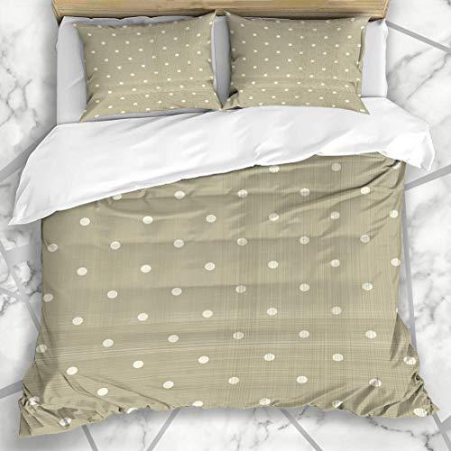 Vintage-braun Polka Dot (Soefipok Bettbezug-Sets Tag Beige Muster Verblasst Braun Polka Dot Abstrakt Rot Creme Vintage Holiday Grau Künstlerische Mikrofaser-Bettwäsche mit 2 Pillow Shams)