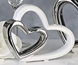 Wunderschönes doppeltes Deko Herz DUO Skulptur Liebe aus Keramik