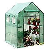 HAIPENG-gewächshaus Treibhaus Foliengewächshaus Tomatenhaus Frühbeet 3 Tier Garten Wachsend Gemüse Pflanze Abdeckung, 2 Größen, 2 Farben (Farbe : Green, größe : 143x143x195cm)
