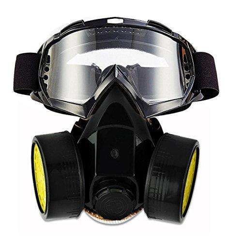 Jolin Dual Anti-Staub-Sprühfarbe Industrial Chemical Gas Atemschutzmasken Respirator (Masken & Vollsichtschutzbrille 1)