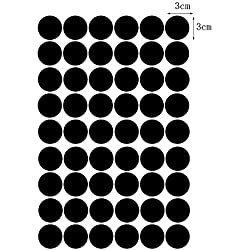 Vinilo adhesivo de lunares para pared, despegable, vinilo, negro, 3cm 54dots