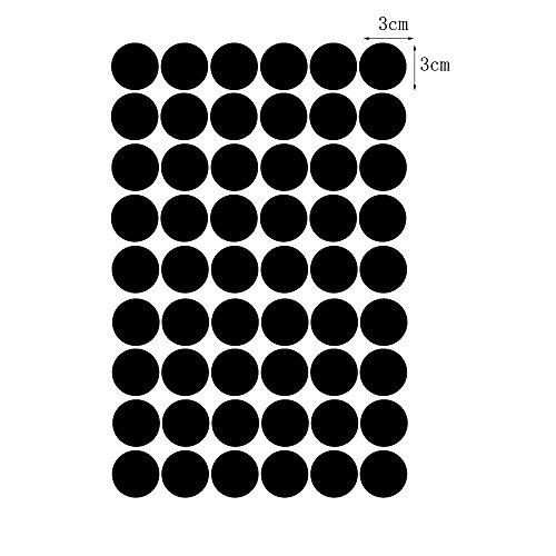 pegatina-de-pared-vinilo-arte-de-pared-vinilo-lunares-peel-stick-negro-3cm-54dots