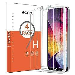 Eono Essentials [4 Stück] Panzerglas kompitabel mit Samsung Galaxy A50, 2.5D, 9H, Anti-Kratzen,Anti-Bläschen, Hülle Freundllich,mit Schablone