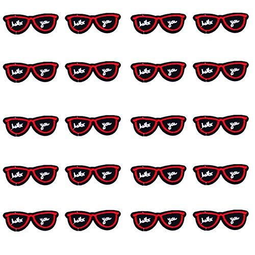 Fablcrew Sonnenbrillen Feine Stickstoff Aufkleber Kleine Patch veröffentlicht Kleidung T-Shirt weiblich Kinderkleidung Zubehör Tasche Zubehör 20er
