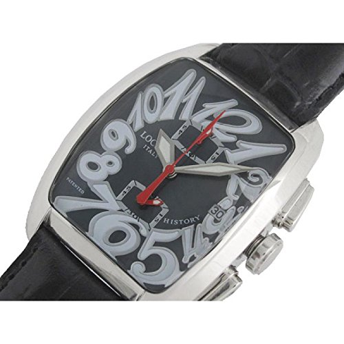 Men Locman 487 nhistory Quartz Clock (Rechargeable) quandrante Steel Black Leather Strap