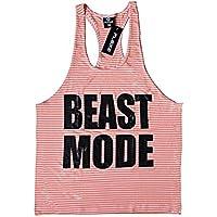 Modo bestia camiseta de tirantes espalda cruzada de–cómodo de llevar en gimnasio, yoga, entrenamiento y CrossFit, extra-large