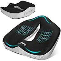 Belpink Orthopedic Seat Cushion for Coccyx Sciatica Hemorrhoid Tailbone Back Pain Relief, Memory Foam Ergonomic Posture Seat Pads for Office Chairs, Wheelchair, Kitchen Chairs, Recliner, Car Seats