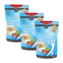 3 x borchers 100 % Erythrit | Zuckeralternative | Kalorienfrei | Erythritol | Aus Frankreich 3 x 400 g