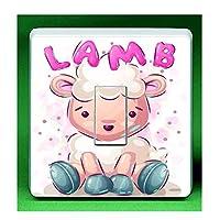 Cute Cartoon Lamb Sheep UK Light Switch Sticker Cover Decal Suitable For Kids & Children