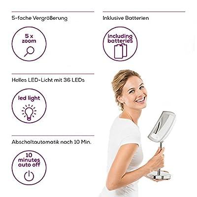 Beurer BS 89 LED Kosmetikspiegel, beleuchtet, 5-fache Vergrößerung