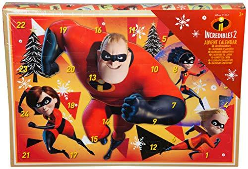 Gli Incredibili 2 Calendario dell'Avvento per Bambini Natale 2018 Disney Pixar Timbri Adesivi Olografici Gommine Pastelli