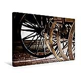 Calvendo Premium Textil-Leinwand 45 cm x 30 cm Quer, Holzräder im Stillstand | Wandbild, Bild auf Keilrahmen, Fertigbild auf Echter Leinwand, Leinwanddruck Kunst Kunst