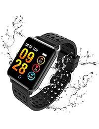 AURSEN Pulsera Actividad Deportiva , IP67 Impermeable Hombre Mujer Fitness Tracker Pulsómetro Podómetros Reloj Inteligente con