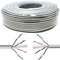 Mr. Tronic 50 Metros Cable de Instalación Red Ethernet Bobina 50m | CAT6, AWG24, CCA, UTP | Color Gris