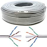 Mr. Tronic 100 Metros Cable de Instalación Red Ethernet Bobina 100m | CAT6, AWG24, CCA, UTP | Color Gris