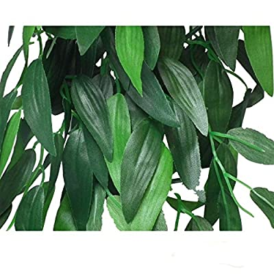 Reptile Vivarium Jungle Silk Plant Decor Ruscus Large by Reptipet
