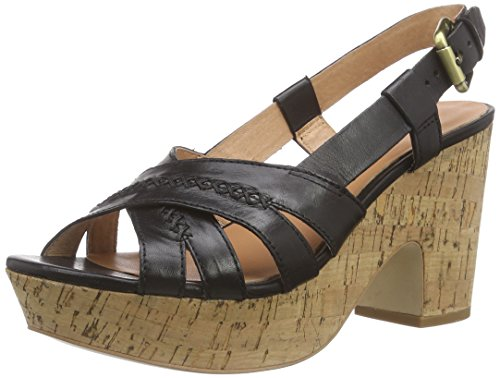 Marc O'Polo Wedge Sandal Damen Plateau Sandalen mit Blockabsatz Schwarz (black 990)