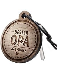 """Schlüsselanhänger aus Holz mit Gravur """"Bester Opa! der Welt!"""""""