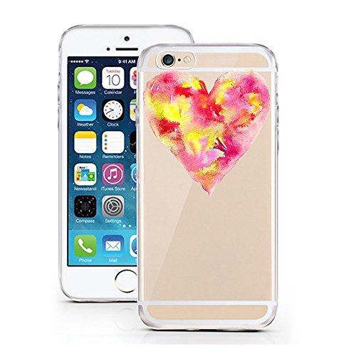 Blitz® FOYER motifs housse de protection transparent TPE caricature bande iPhone Chic Happens M12 iPhone 5 red Hearth M1