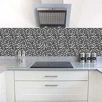 Set de 10 pcs stickers carrelage 3d adh sif mural cuisine - Carrelage cuisine mosaique ...