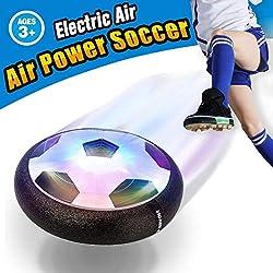 VIDEN Soccer Ball con Luces LED, Balón Flotante, Air Football con Parachoques de Espuma, Formación Fútbol en Casa, Niñas Deportes Juguetes, Negro, Color