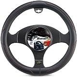 Bottari 16285 Funda Volante para Auto, Color Negro con Rojo