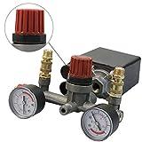 MASUNN Compressore Aria Pressostato Pompa Controllo + Valvola Manometri Regolatore