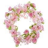 D DOLITY Blumen Perlengirlande Perlenband Perlenvorhang Perlen Dekoration, DIY für Blumenstrauß Kleidung und Haarschmuck - Rosa
