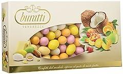 Idea Regalo - Buratti Confetti con Ripieno alla Frutta, Gusti Assortiti, Tenerezze Misto Frutta Colorati - 1000 g