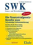 SWK-Spezial Finanzstrafgesetz-Novelle 2010: Vollständige Erstkommentierung