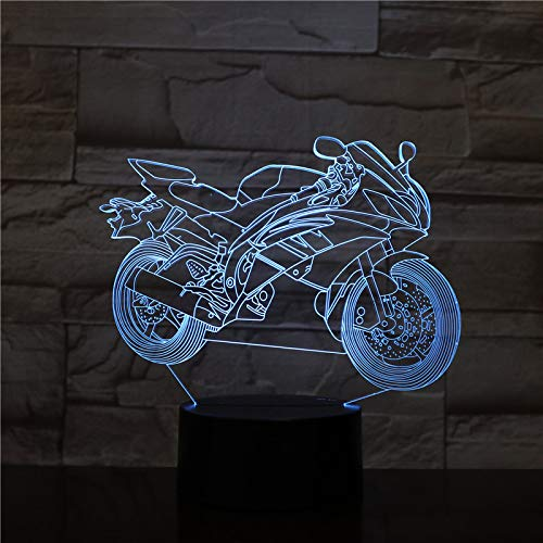 Luce notturna per moto fredda Luce notturna a batteria effetto luce visibile per gli amanti della moto