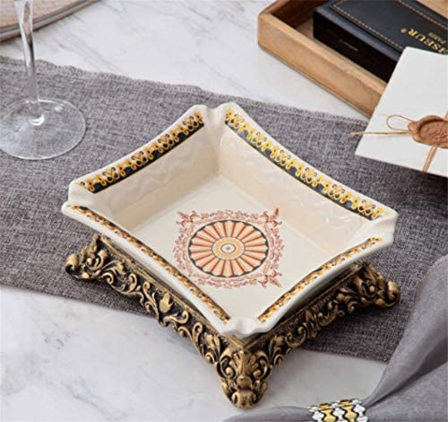 ALILEO Moda Europea Posacenere Creativo In Grande Ceramica Di Grande In Moda Posacenere Di Sigaro Semplice Retro Desktop Posacenere Decorativo, B ad8ee1