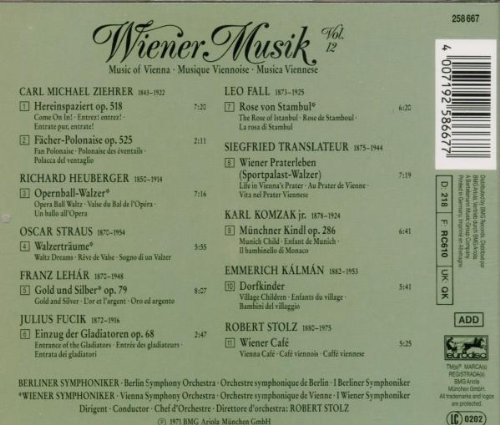 Wiener Musik Volume 2 [Import anglais]