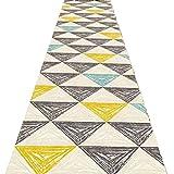 QiangDa Flur Teppich Läufer Langflor Teppiche Lang Gang Super Weich Rutschfest Kunststoffkörnchen Verschleißfest Haltbar Mehrere Größen Europäischer Stil, Dicke 6 mm (Farbe : 1#, Größe : 1.2m x 3m)